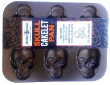 New listing Nordic Ware Haunted Skull Cakelet Pan Bronze 2.5 cup capacity