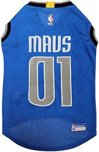 DALLAS MAVERICKS #00 NBA Officially Licensed Pets First Dog Mesh Blue Jersey