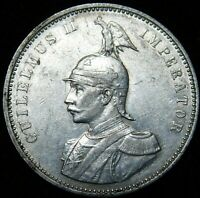 German East AFrica  1911  One Rupie Silver  Great Details  A46-346
