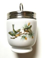 Egg Coddler & Lid - Birds by Royal Worcester