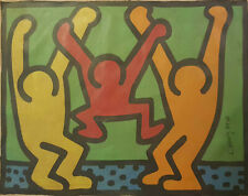 Signed Original Keith Haring,Painting on Canvas.Untitled,1989 Provenance