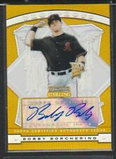 2009 BOWMAN STERLING PROSPECTS GOLD REFRACTOR ROOKIE AUTO BOBBY BORCHERING #/50