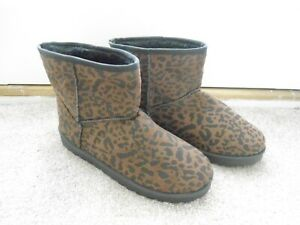 LADIES ANIMAL PRINT ANKLE BOOT SIZE 7 BRAND NEW