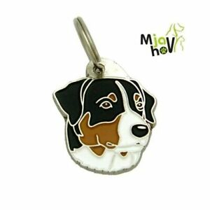 Dog name ID Tag, Appenzeller - Entlebucher, Engraved, Personalized, Handmade