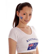 10 x Australien Fan Tattoo Fahnen - Australia Fan Flag - temporary tattoo flag