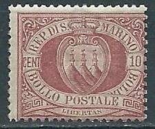 1894-99 SAN MARINO STEMMA 10 CENT MNH ** - VA6-3