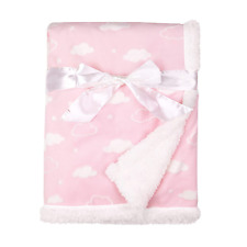 American Baby Company Heavenly Soft Sherpa/Chenille Receiving Blanket, 3D Cloud