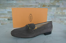 Tods Tod's GR 36,5 Slipper zapato bajo zapatos Shoes gris marrón nuevo PVP 330 €