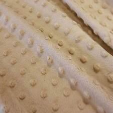 Stoff Meterware Softplüsch beige Minky Fleece Noppen Dots weich warm Mode Trendy