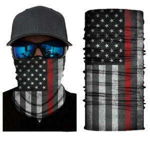 GAITER TIME THIN RED LINE Face Mask Shield/Balaclava/Neck Gaiter