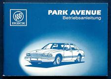 Owner's Manual * Betriebsanleitung 1993 Buick Park Avenue  (D)