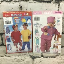 Butterick Sewing Patterns Childrens #4902 All Sizes, Baby #6280 Sz NB-M Uncut