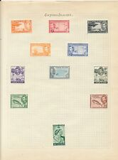 Stamp collection early Cayman Islands mint unused on album page