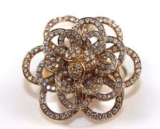 Round Diamond Rose Flower Shape Cluster Lady's Ring 14k rose Gold 1.47Ct
