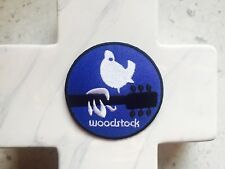 Woodstock Peace Love Music Festival Hippie BlueEmbroidered Iron On Patches Patch