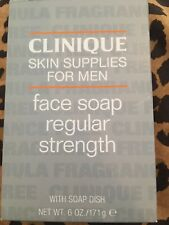 Clinique Skin Supplies Face Soap With Dish Regular Strength Brand New In Box NEW