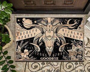 Ouija Board Spirit Baphomet Welcome Mat Gothic Wiccan Door Mat Halloween Decor