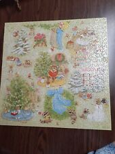 Springbok Jigsaw Puzzle Christmas Comes to Town 500 + pcs Vintage COMPLETE