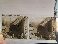 ancien plaque verre stereo photo 1930 05 hameau puy aillaud rue  45