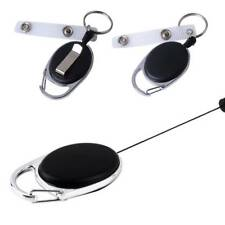 Retractable Key Ring Keychain Gear Anti-theft Wire Rope Key Chain With Back Clip