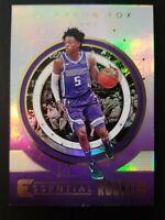 De'Aaron Fox 2017-18 Panini Essential Rookies #ER-3 Rc Sacramento Kings Kentucky