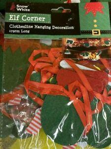Elves Behavin' Badly  & Naughty Elf Washing Line 175cm long x 2 packs