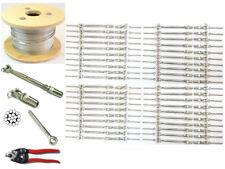 "1/8 Cable Railing 316 Stainless Steel Kit 36"",1/8 1*19 500 Ft+Full Kit For Wood"