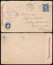 AUSTRALIA WW2 1945 CENSORED to OHIO...AMATEUR RADIO SHORT WAVE LEAGUE WA PERTH