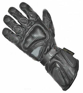 New Cowhide Leather Zeus Designer Black Motorcycle Gloves Motorbike Collection