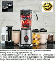 Fresh Nutri-Mixer Pro 600W Functions Compatible Bullet Blender Food Extractor