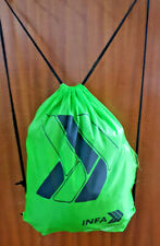 INFA lifestyle drawstring gym bag with small shirt, hoodie and wooly hat