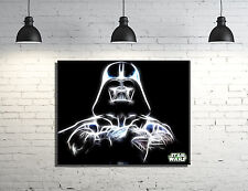 """Star Wars Darth Vader framed Canvas wall art 14""""x11"""" inches and a 3/4"""" frame"""