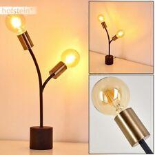 2-flammige Nacht Tisch Lampen schwarz/goldfarben Wohn Schlaf Zimmer Beleuchtung