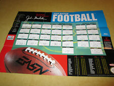 POSTER FOR NINTENDO NES  GAME JOHN MADDEN FOOTBALL