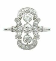 2.10 CT Diamond 14k White Gold FN Antique Cluster Cocktail Art Deco Ring 925 SS