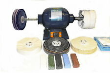 "Bench Grinder Metal Polishing Kit -  6"" x 1"" Polishing & 6"" x 2"" Buffing Mops"
