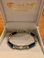 New Sterling Silver Lapis & Pearl Ronaldo Bracelet Size 6.75 - Retails $233