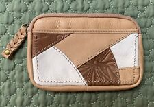 Fossil Isabella Wristlet Key Ring Pouch Leather NWT