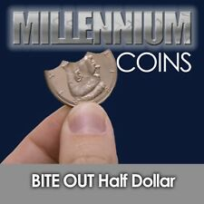 Bite Out Half Dollar Magic Trick - Carry With You - Copperfield - Us Seller