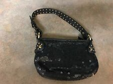 AX Armani Exchange SEQUIN Genuine Leather VERY Small Handbag Purse