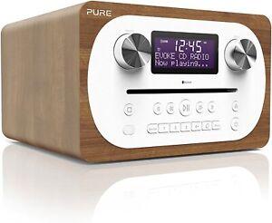 PURE EVOKE C-D4 ALL IN ONE STEREO BLUETOOTH DAB+ RADIO CD PLAYER WALNUT *P1*