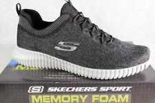 Skechers Elite-Flex Slippers Sneakers Low Shoes Black Gray 52642 New