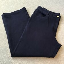 St John Navy Trouser pants size 14 Made In USA Stretch