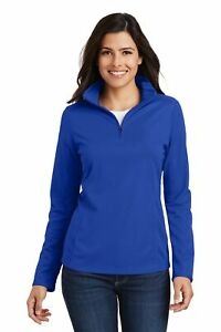 Women/'s Port Authority ® Silk Touch ™ Performance 1//4-Zip Carver Yachts