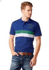 "Herren-Polo-Shirt ""Rhode Island"" Gr. L - XL blau gestreift"