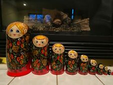 Russian Nesting Dolls Beautiful Girls 10 pieces! Nice Gift!