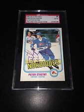 Peter Stastny Signed 1981-82 O-Pee-Chee Rookie Card OPC SGC Slab #AU147436