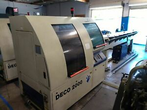 Tornos Deco 13 Swiss Lathe, 2002 -12-Axis, Live Tooling, Bar Feeder, Tons of Opt