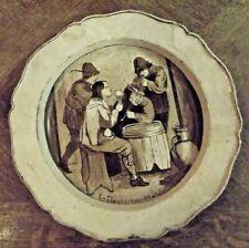 Assiette ancienne Décor le Plaisirs des Matelots , diamètre 31,5 cm