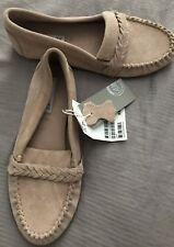 Lovely Girls Real Suede Loafers Mocasins H&M Size 1.5 Pink